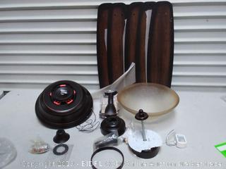 56 oil rubbed bronze ceiling fan( LED light chipped) online $165