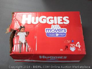 Huggies Little Movers Size 4, 70 Count