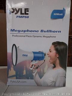 Pyle Bullhorn, 50 Watt Megaphone w/ Siren & Volume