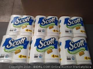 Scott Rapid-Dissolving Toilet Paper, 4 Rolls, 6 Pack