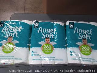 Angel Soft Toilet Paper, 12 Rolls Each, 3 Pack