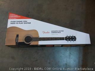 Fender acoustic guitar starter pack