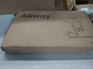 Akway mobile laptop desk rolling cart