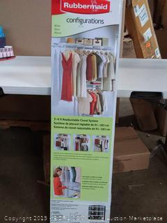 Rubbermaid configuration White closet system