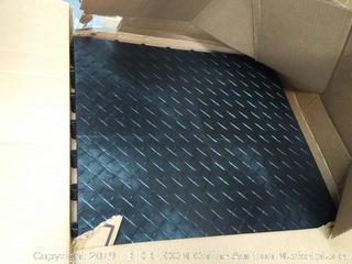 RaceDeck Diamond Plate Design, Durable Interlocking Modular Garage Flooring Tile Black