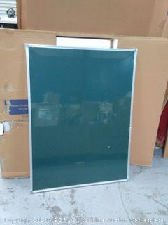 green chalkboard 48 in x 36 in, small dent in top right