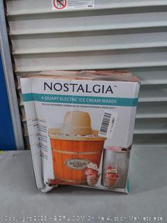 Nostalgia 4 qt electric ice cream maker(Powers On)