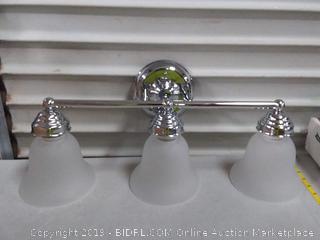 3 Bulb Wall Light Chrome Plated