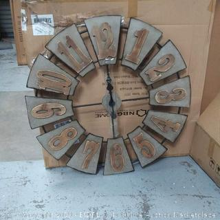 Everly Hart early collection oversized metal wood windmill wall clock
