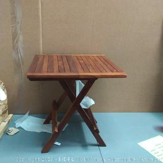 bare decor raveena folding teak small table oil finish
