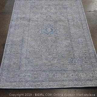 "Loloi Porcia Collection Area Rug, 3'7"" x 5'2"", Beige/Blue"