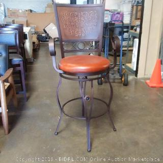 Powell Company Big and Tall Copper Stamped Back Barstool with Arms (Online $122.22)