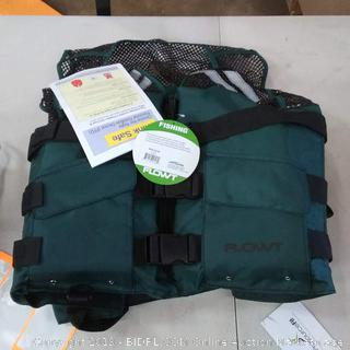 Flowt 40626-2X/3X Mesh Fishing Adult Life Vest Type III PFD, Tan, 2X Large / 3X Large