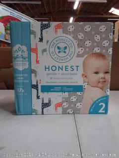 The Honest Company Super Club Box Diapers with TrueAbsorb Technology, Pandas & Safari, Size 2, 152 Count