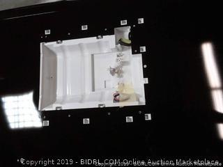 black color left hand fridge door