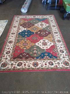 Momeni Rugs Persian Garden Collection, 100% New Zealand Wool Traditional Area Rug, 5' x 8', Multicolor
