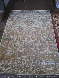 Superior Floral Damask Pendleton Area Rug, 4' x 6', Off White