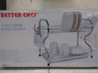 Better Chef 22in Chrome plated dish rack
