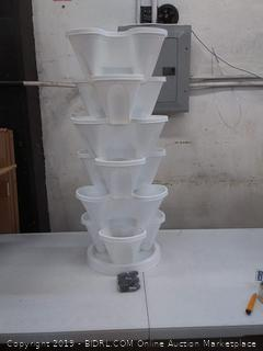 6 tier planter stackable for gardening