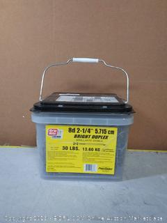"GripRite 8d 2-14"" 5.715cm Bright Duplex 30lbs(case cracked)"