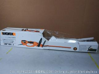 "Worx 20"" 3.8AMP electric hedge trimmer"