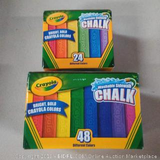 Crayola Washable Sidewalk Chalk Pack 48 Count + 24 pack