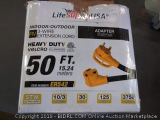 life supply USA RV  3 wire extension cord 50 feet