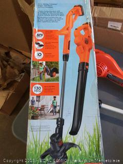 Black & Decker cordless 10 inch string trimmer edger and hard surface sweeper (2x1.4Ah Lithium Batteries)