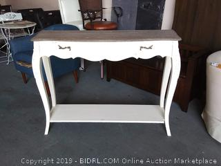 Baxton Studio Bourbannais Wood Trditional French Console Table, White (Online $162.02)