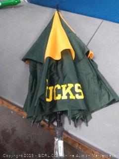 "Team Golf NCAA Oregon Ducks 62"" Golf Umbrella with Protective Sheath, Double Canopy Wind Protection Design, Auto Open Button"