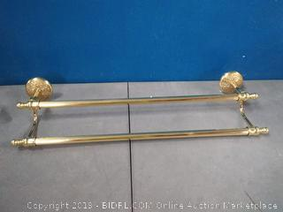 Allied Brass MC-72/24-PB Monte Carlo Collection 24 Inch Double Towel Bar Polished Brass (online $183)