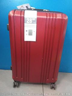 coolife 28 in roller suitcase wine red