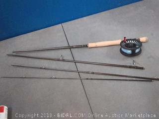 Redington fly fish rod with crosswater fly reel (broken handle, the reel is perfect)