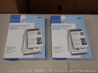 Sparco premium multi-purpose copy paper, 500 sheets per pack, 2 pack
