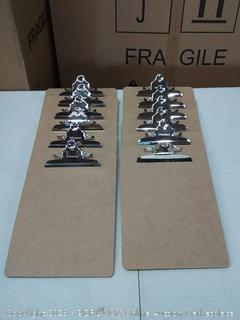 wood clipboard letter size, 12 count