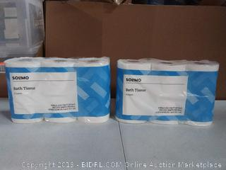 Solimo bath tissue, 12 rolls