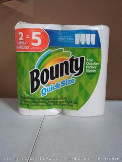 Bounty quick size paper towels, two rolls