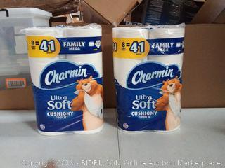 Charmin Ultra Soft Cushiony Touch Toilet Paper, 16 Family Mega Rolls