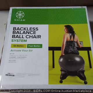 Backless balance ball chair system -gaiam