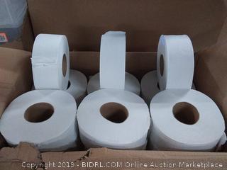 Jumbo JRT Ultra Bath Tissue, DDI-5206, 2-Ply, White, 9 in Diameter (Case of 12 Rolls)