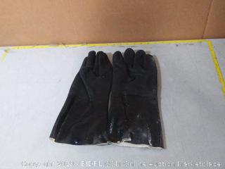 """Best Insulated BBQ Pit Gloves * 14"""" Length for Outdoor Barbecue, Cooking and Frying! Heavy Duty Heat Resistant TEXTURED Neoprene"""