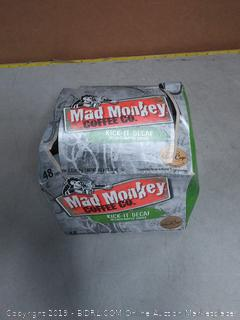 Mad Monkey Coffee Capsules, Kick It Decaf Box open may be missing a few