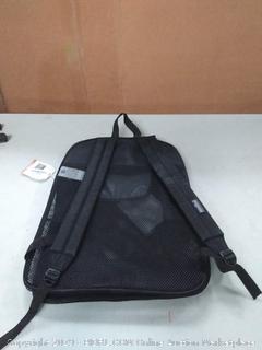 fishnet transparent JanSport backpack left strap broken