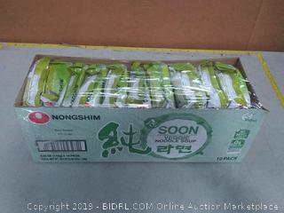 NONGSHIM SOON NOODLE Soup, Veggie, 3.95 Ounce (Pack of 10
