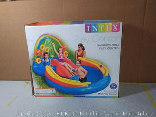 """Intex Rainbow Ring Inflatable Play Center, 117"""" X 76"""" X 53"""", for Ages 2+(Factory Sealed)"""