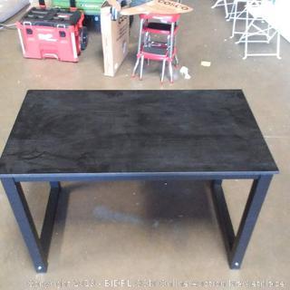 DlandHome 55 Inch Large Computer Desk/Office Desk/Workstation/Table,  Black Walnut & Black Legs (Online $128.00)