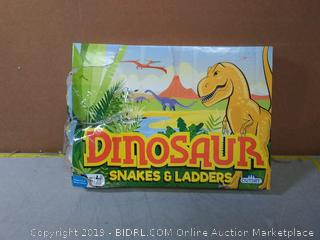 Dinosaur Snakes & Ladders Game(Board Ripped)