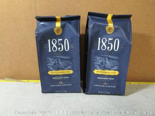 Folgers 1850 Pioneer Blend Medium Roast Ground Coffee 12.00 oz 2pck