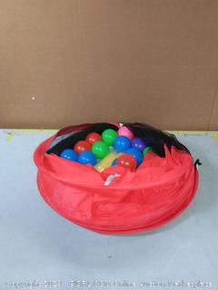 pop up play tent with playpen balls(missing 2 tents and 1 tunnel/cover ripped)