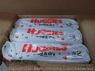 Huggies Snug & Dry Baby Diapers, Size 2 (fits 12-18 lb.), 228 Count